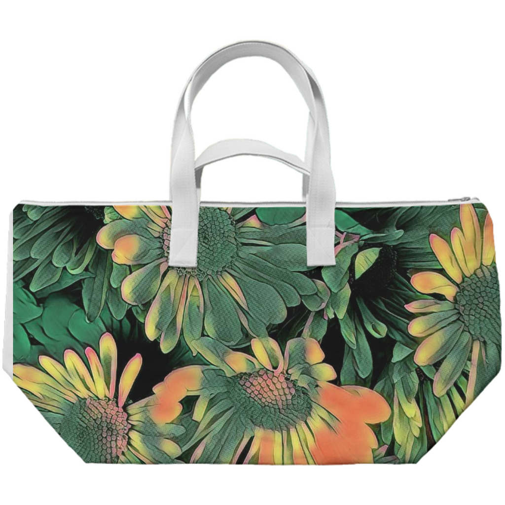 Green Blossoms Weekend Tote Bag
