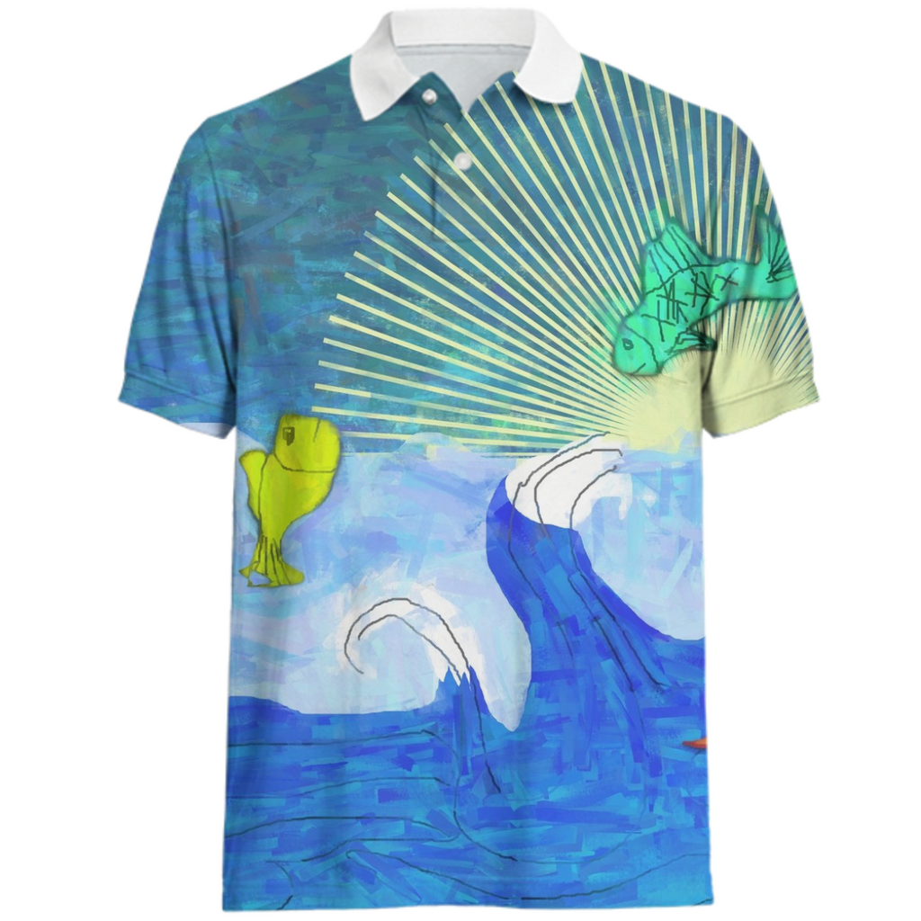 Jumping Fishies Polo Shirt