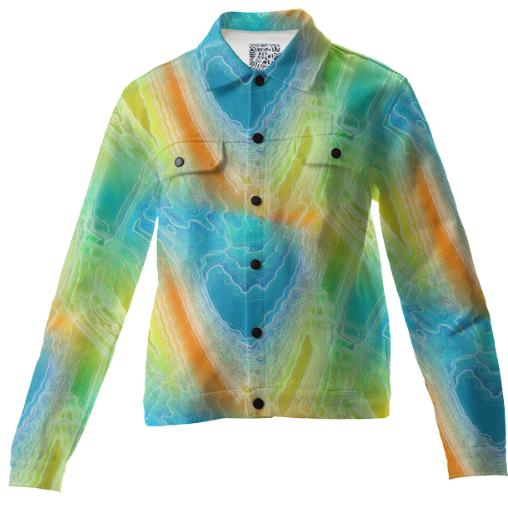 Frozen Rainbow Twill Jacket
