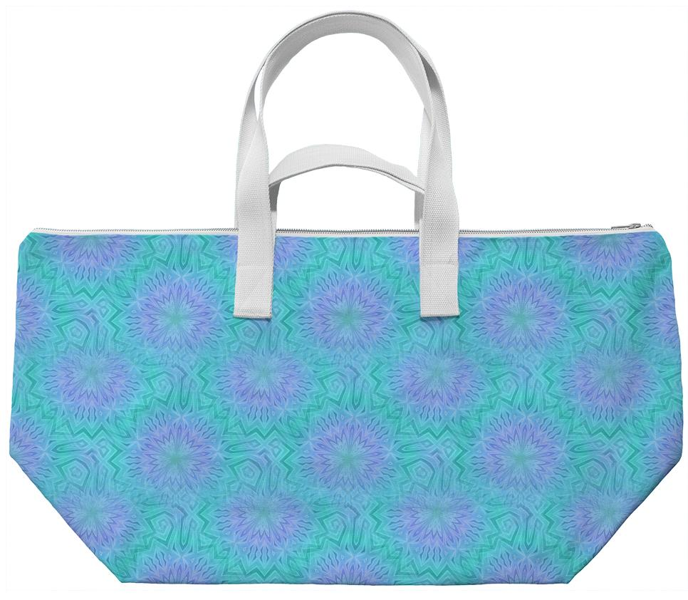 Purple and Cyan Weekend Bag