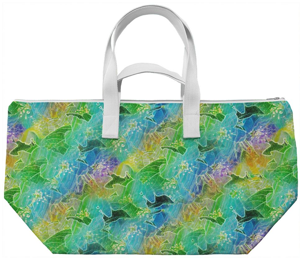 Colorful Glow Floral Print Bag