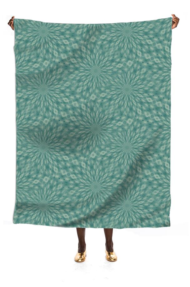 Dusky Green VP Silk Scarf