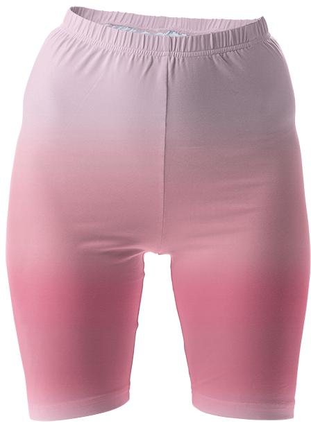 Pink Ombre Bike Shorts