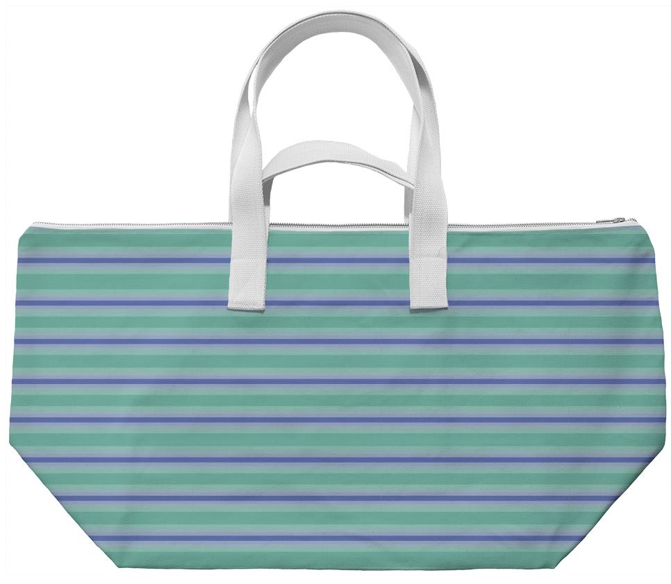 Grapevine Stripe Weekend Bag