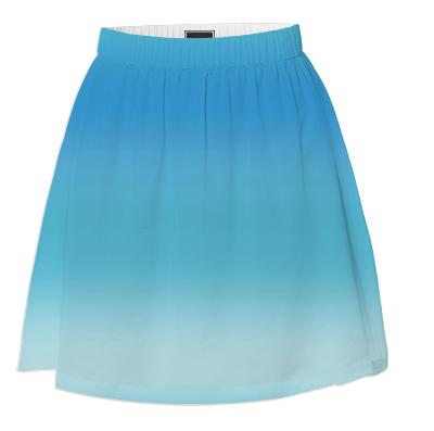 Blue Ombre Summer Skirt