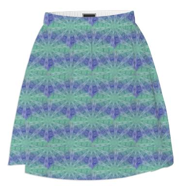 Purple And Green Summer Spirals Skirt