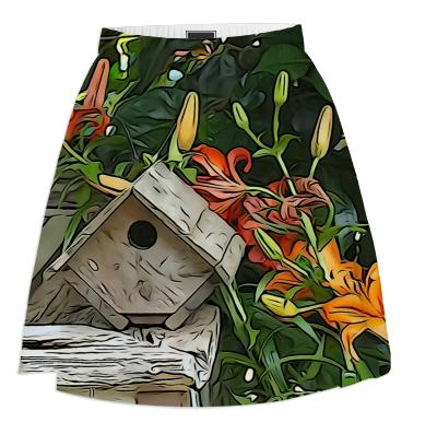 Painted Birdhouse Summer Skirt
