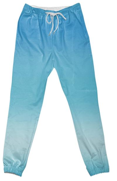 Blue Ombre Cotton Pants