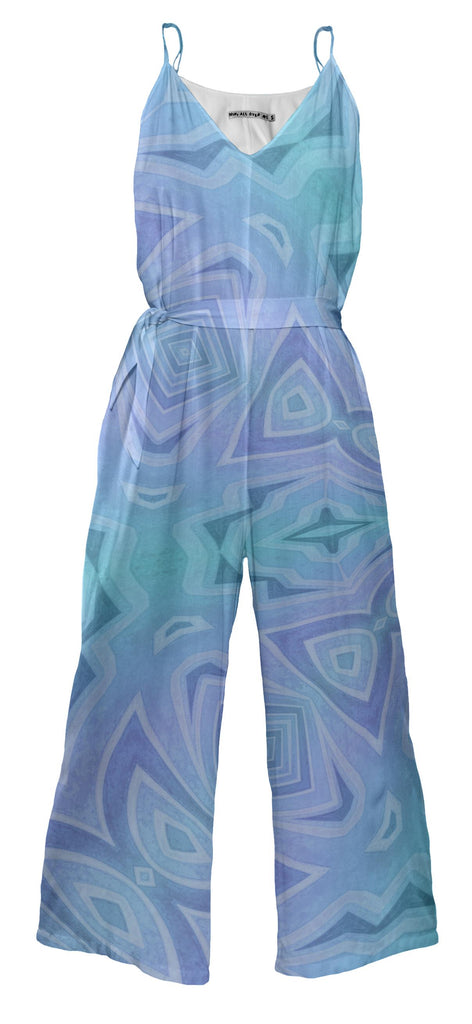 Purple And Blue Delight Jumpsuit