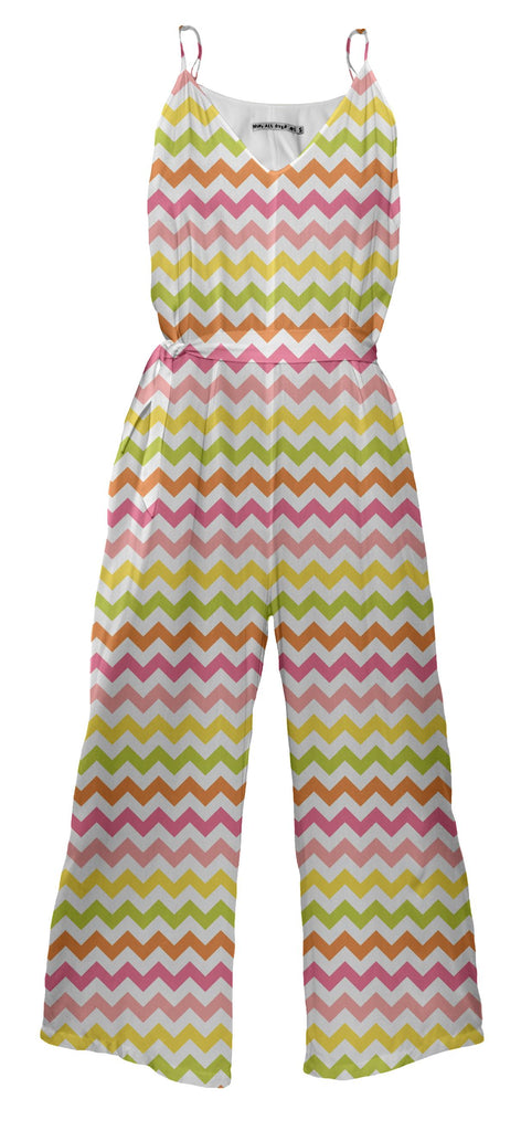 Summer Pastel Chevron Jumpsuit