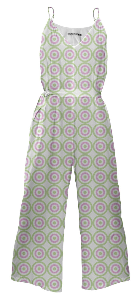 Purple Green Circle Jumpsuit