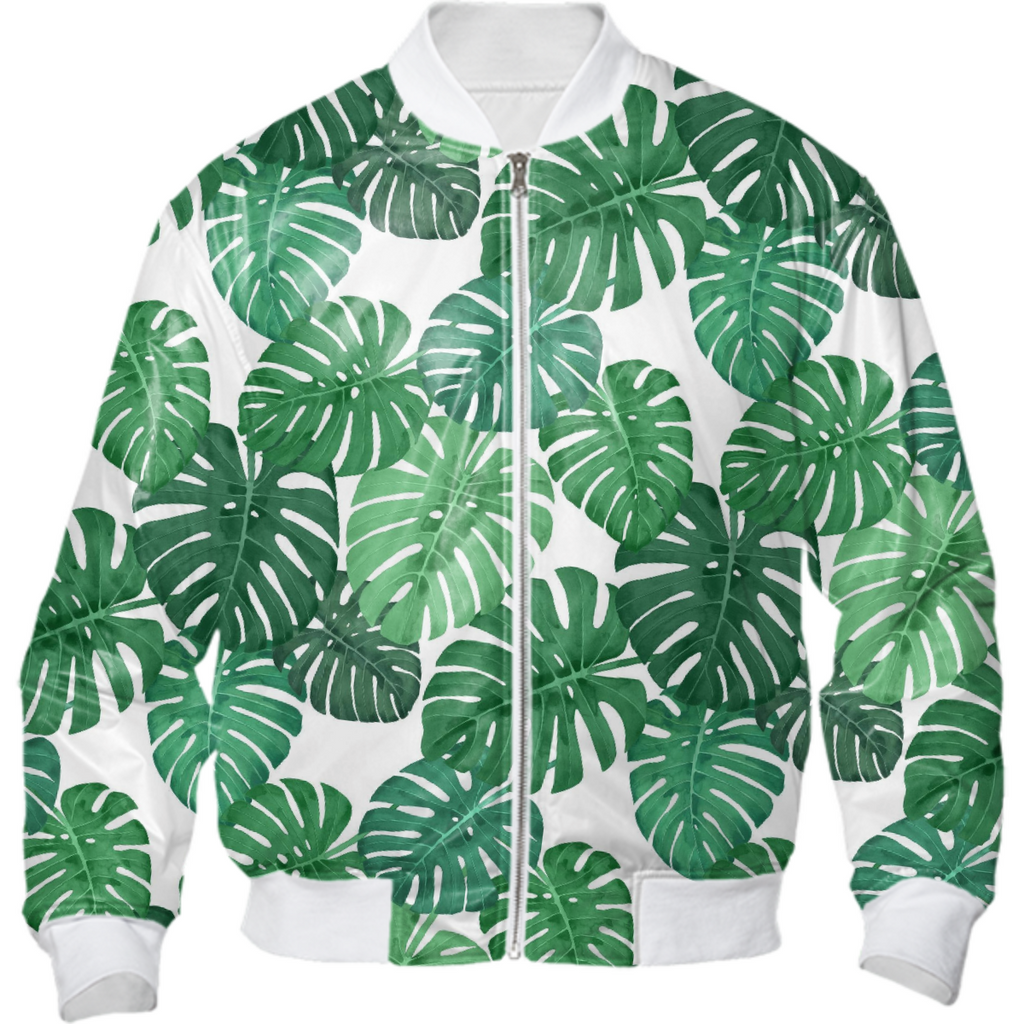 Monstera Jungle Bomber Jacket by Frank-Joseph