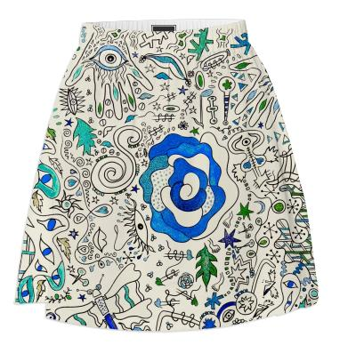 Blue Rose Hand Skirt