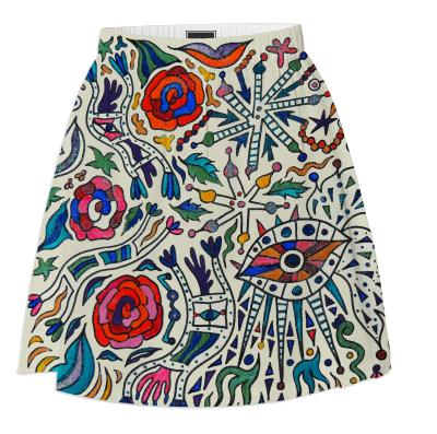 Multicolor Roses Skirt