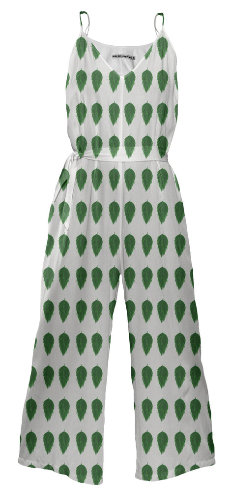 Eco print leaf jumpsuit
