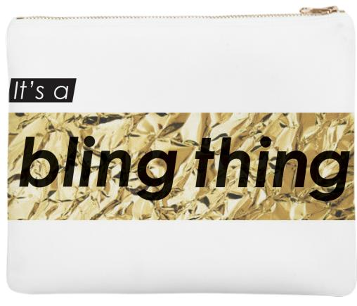 Gold Foil Bling Thing clutch