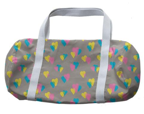 80s Hearts Duffle Bag
