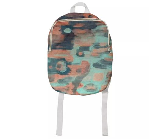 Sea Foam Kids Backpack by Amanda Laurel Atkins