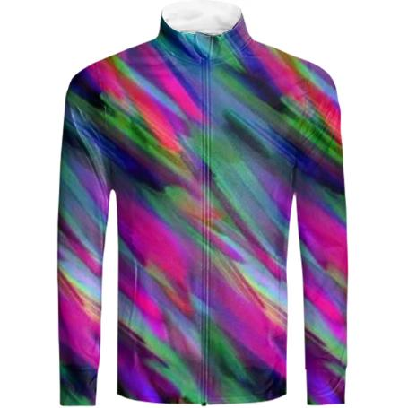 Colorful digital art splashing G400 TRACKSUIT JACKET