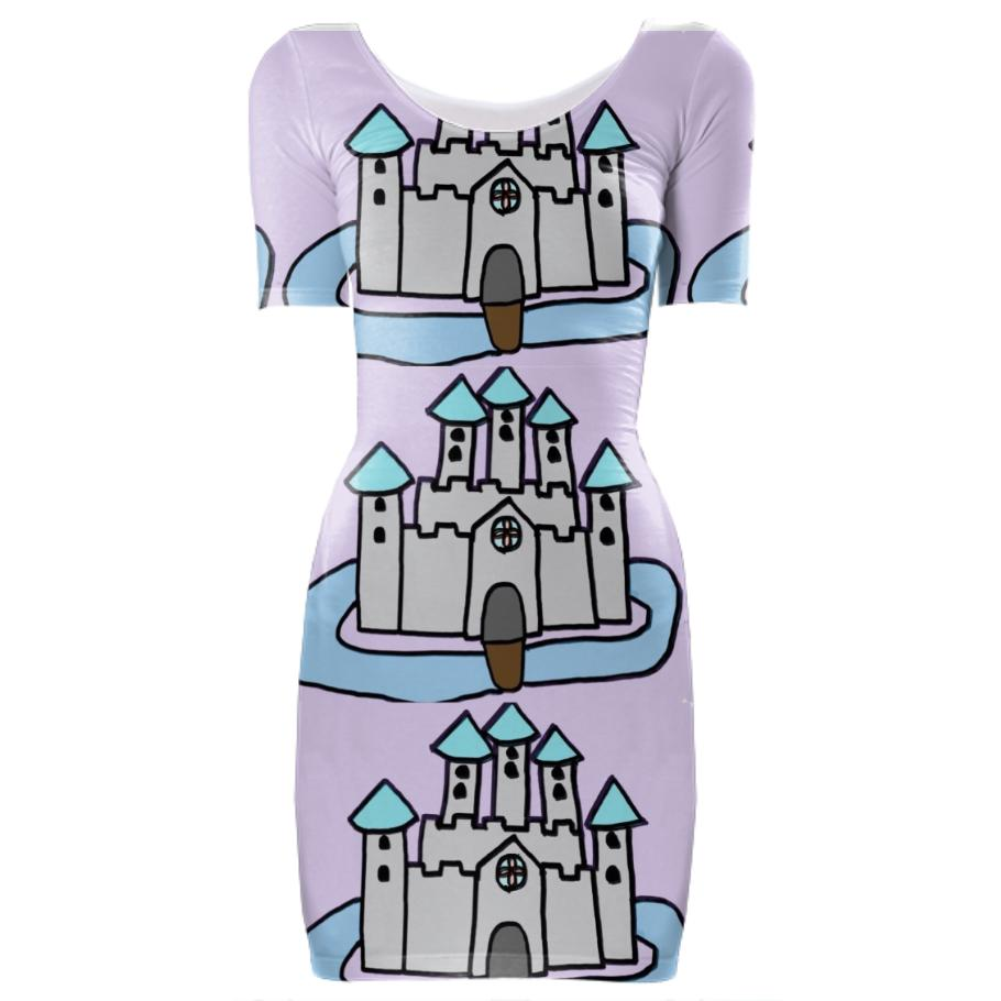 The Castle I Made For Class Multiplied Bodycon Dress