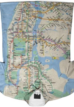 Urban Annex NYC Subway Map Buttondown Shirt