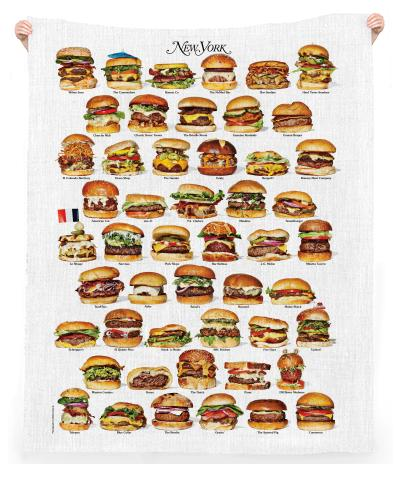 PAOM, Print All Over Me, digital print, design, fashion, style, collaboration, nymag, Linen Beach Throw, Linen-Beach-Throw, LinenBeachThrow, New, York, Burgers, Towel, spring summer, unisex, Linen, Home