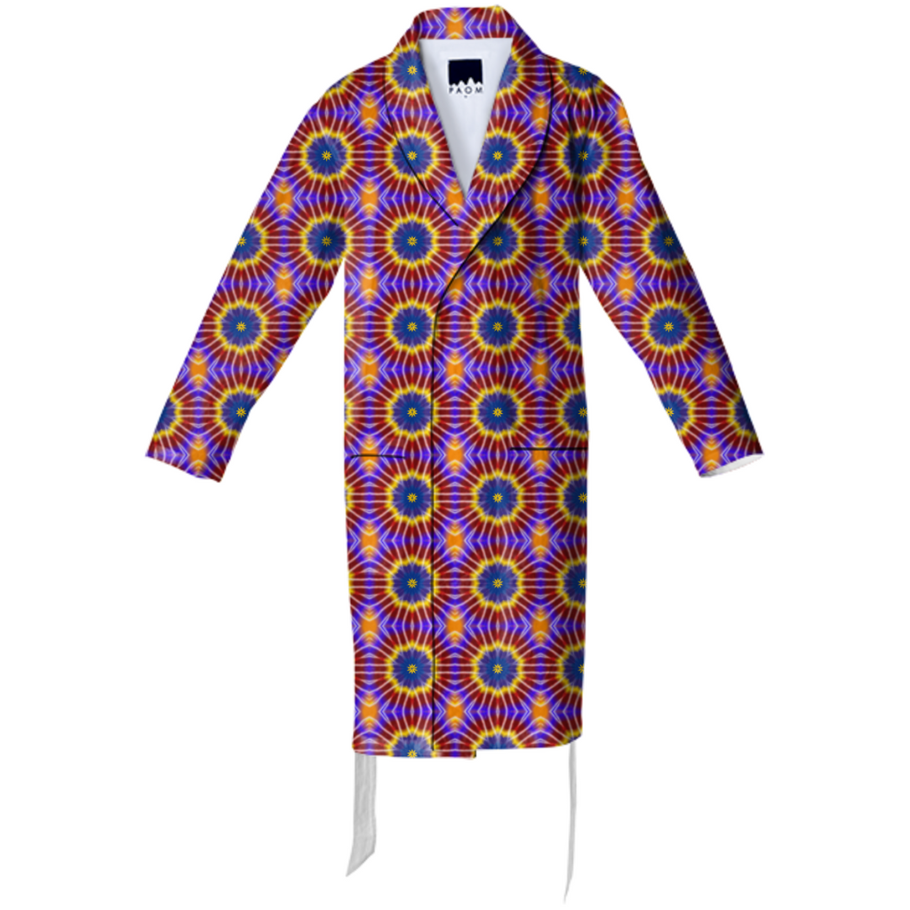 Rainbow Tie Dye Cotton Robe