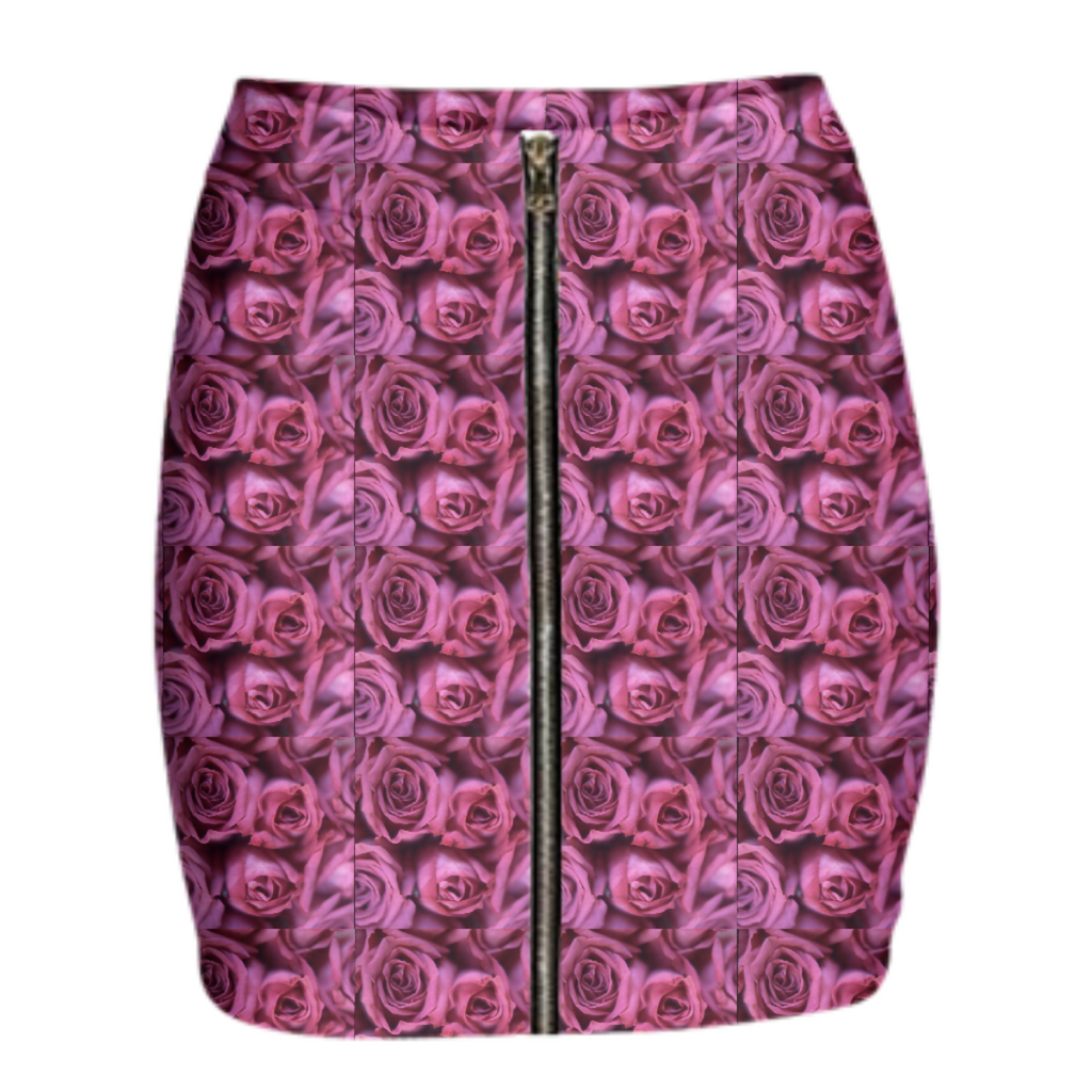 ROSIE NEOPRENE MINI ZIP SKIRT
