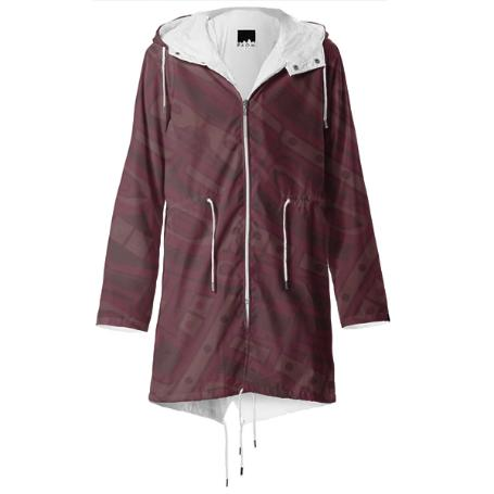 Yeezy Burgundy Raincoat