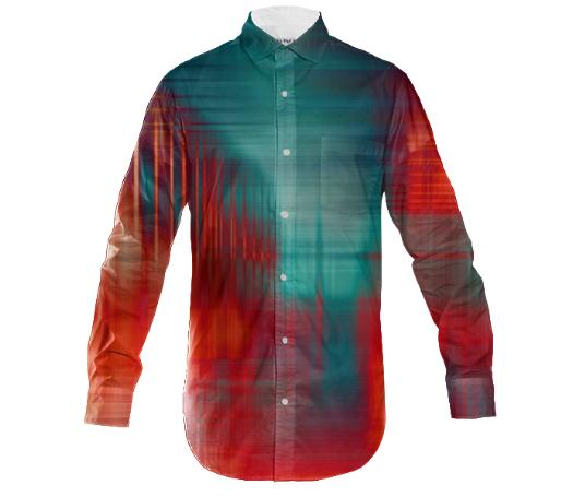 Slim fit mens button abstract