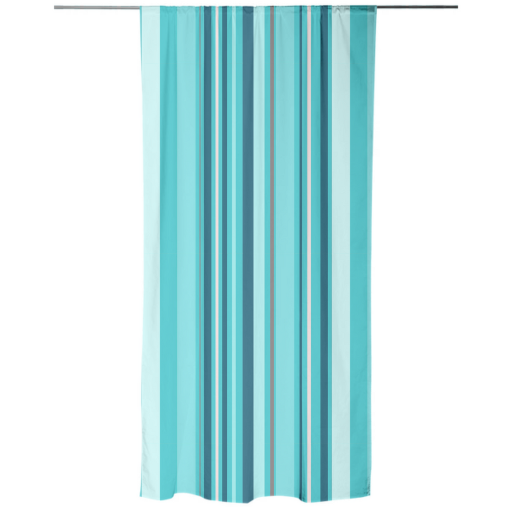 Blue Stripes Explosion Curtain