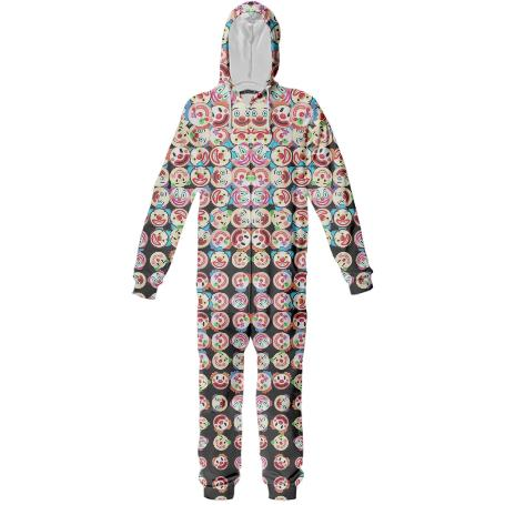 PAOM, Print All Over Me, digital print, design, fashion, style, collaboration, geoffrey-mac, geoffrey mac, Cozy Onesie, Cozy-Onesie, CozyOnesie, Clown, Explosion, autumn winter spring summer, unisex, Poly, One Piece