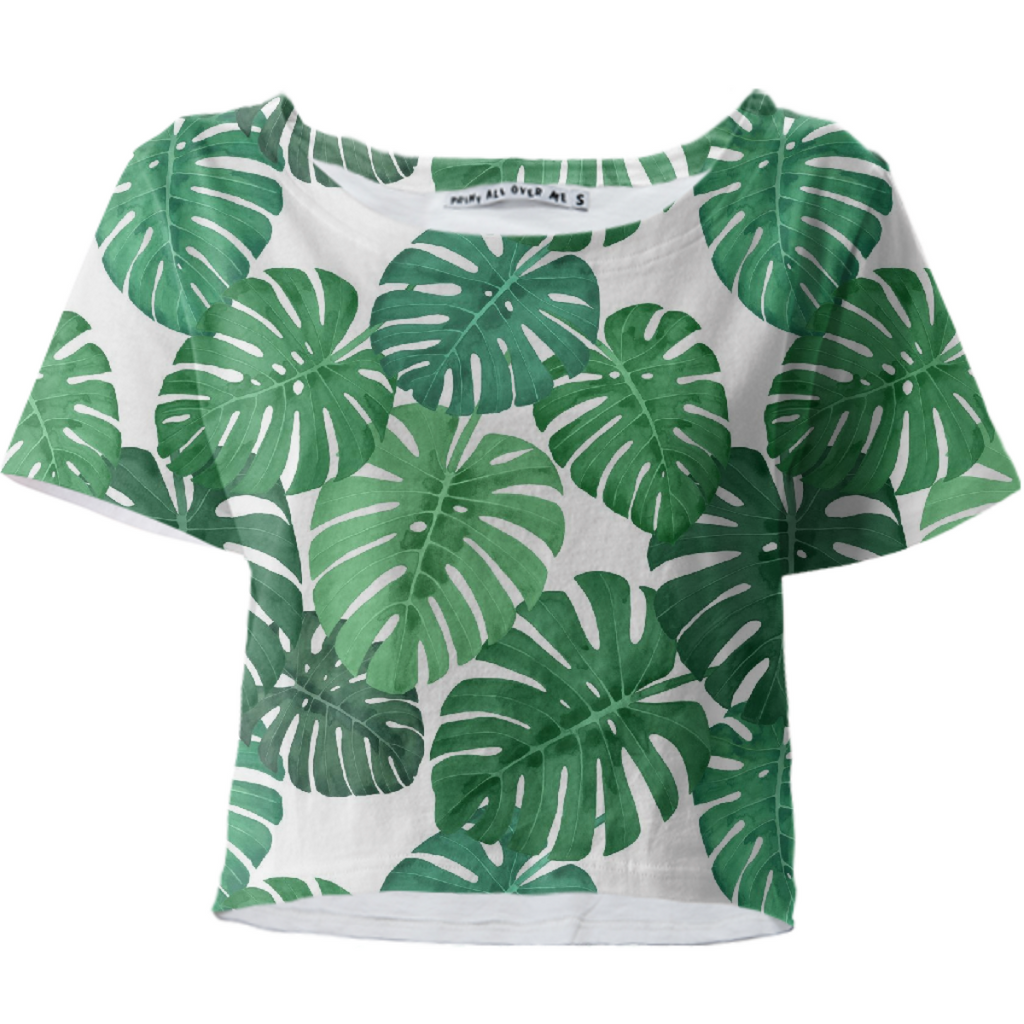 Monstera Jungle Crop Tee by Frank-Joseph