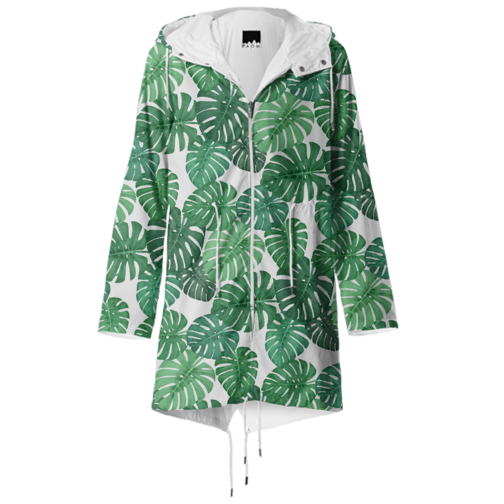 Monstera Jungle Raincoat by Frank-Joseph