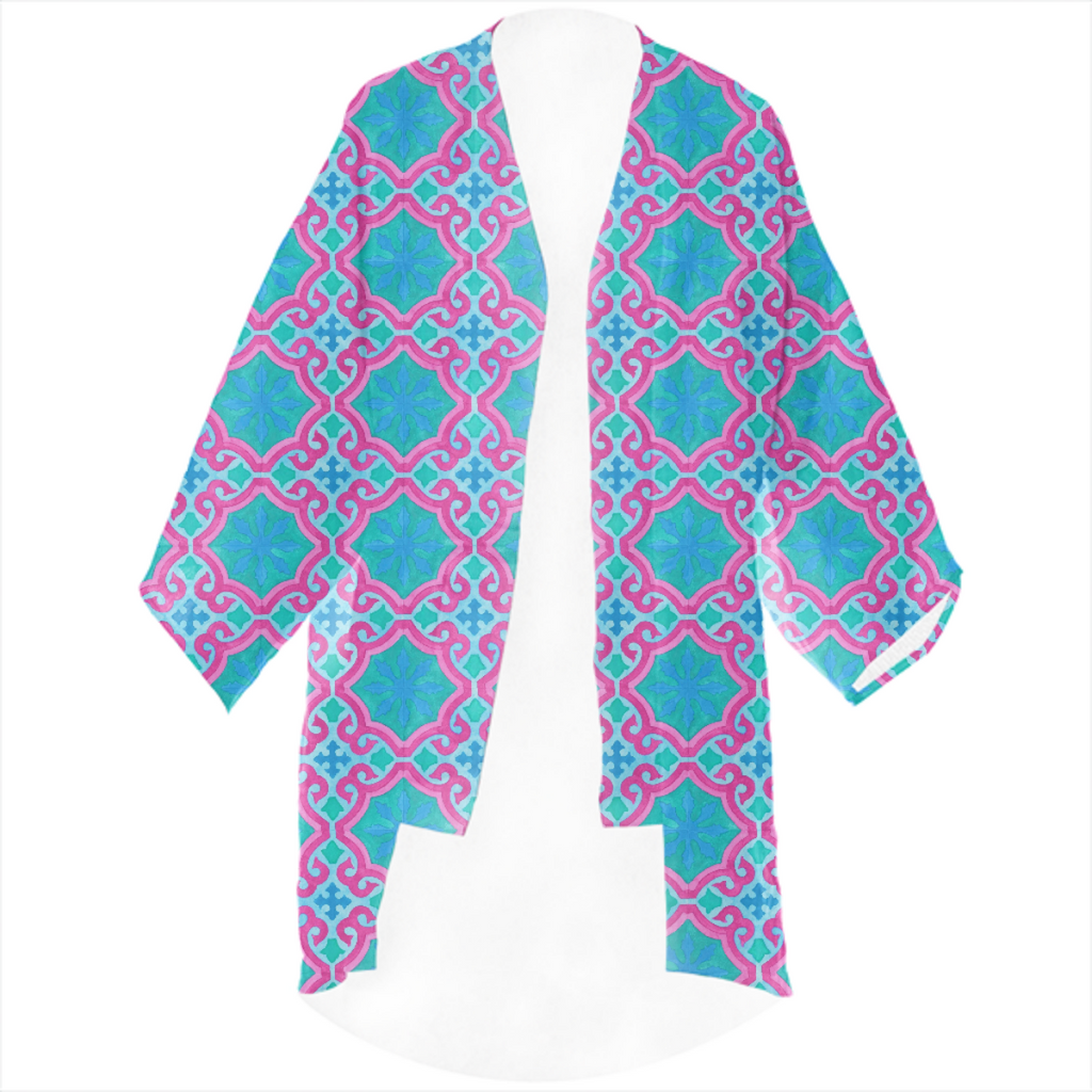 The Moors of Palm Springs Linen Kimono by Frank-Joseph