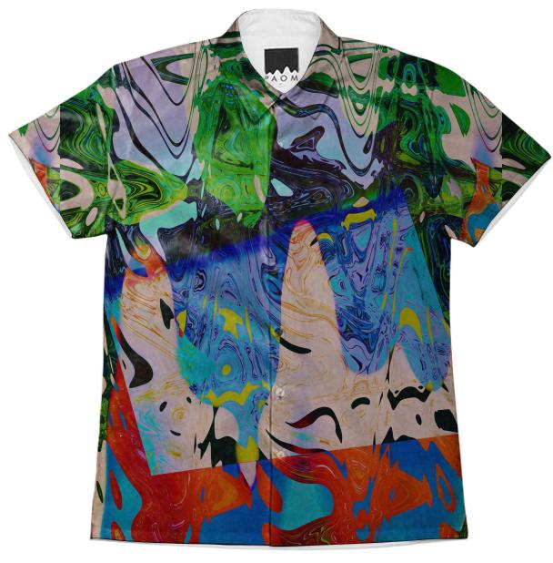 PAOM, Print All Over Me, digital print, design, fashion, style, collaboration, brianvu, Short Sleeve Workshirt, Short-Sleeve-Workshirt, ShortSleeveWorkshirt, Substance, Abuse, spring summer, unisex, Cotton, Tops