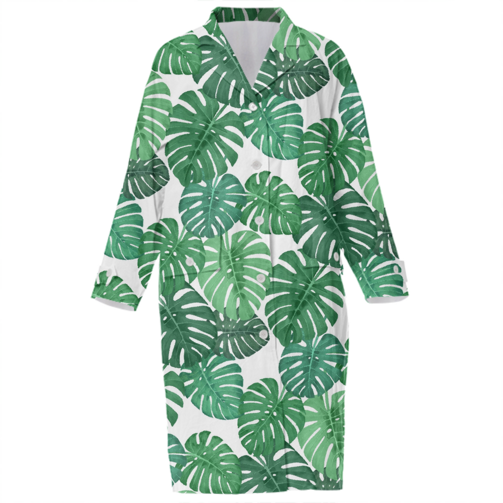 Monstera Jungle Cotton Trench by Frank-Joseph