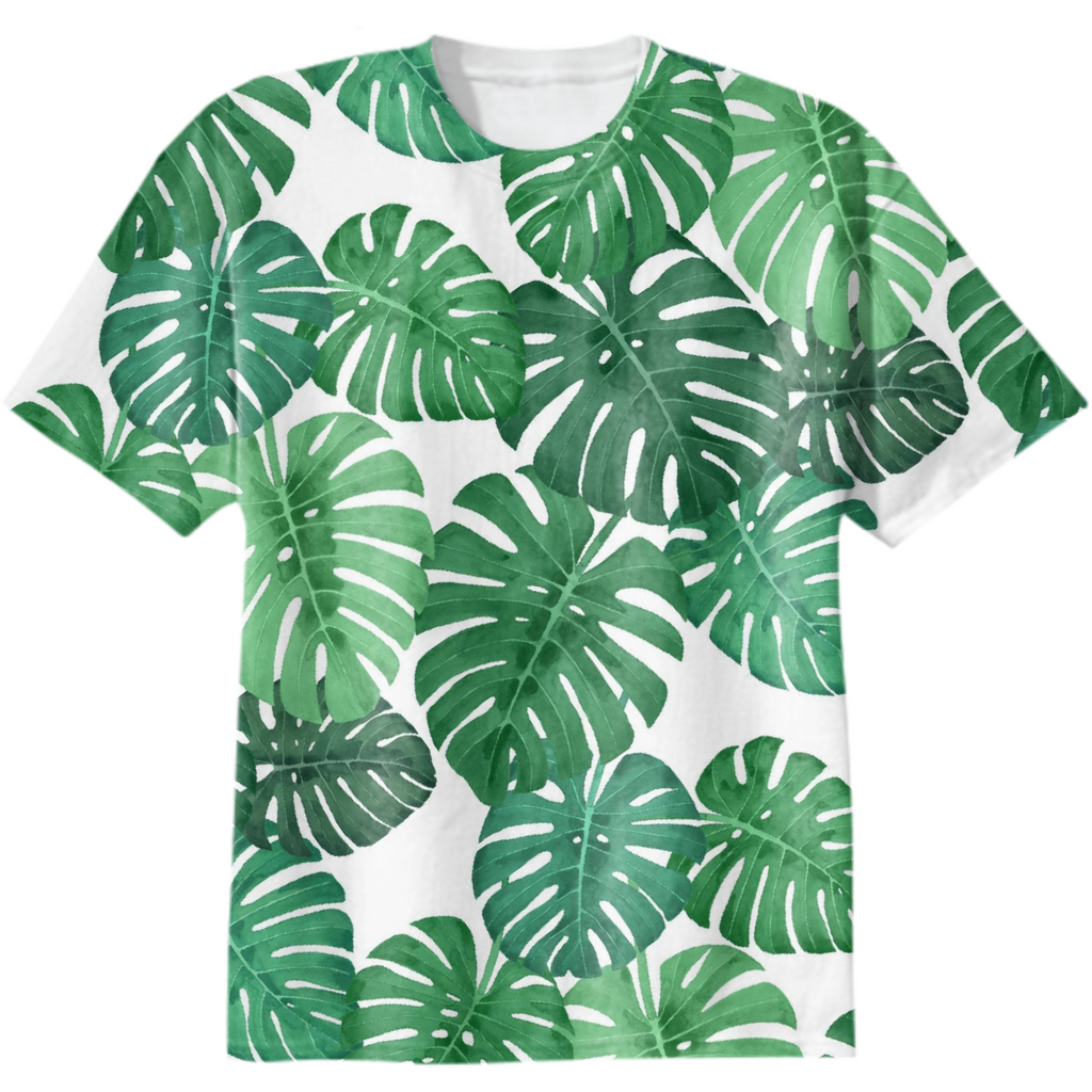 Monstera Jungle Cotton T-Shirt by Frank-Joseph