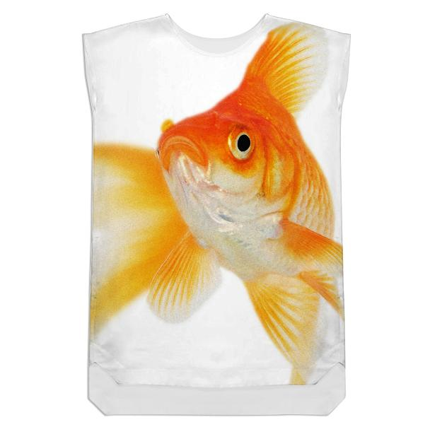 goldfish shift dress