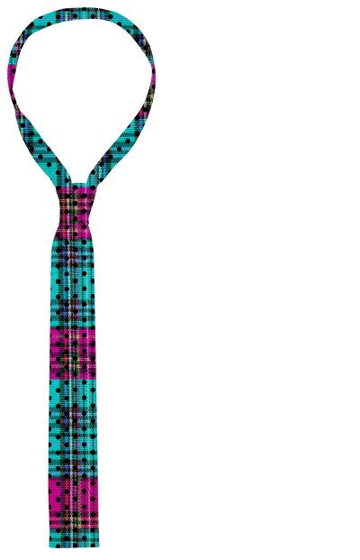 plaid dot tie