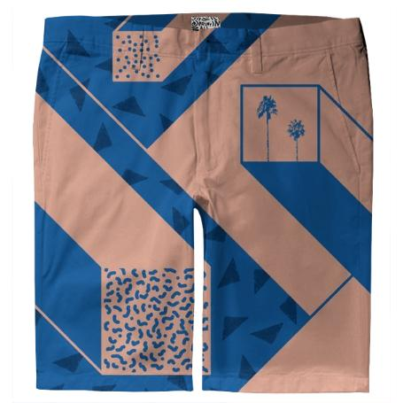 palm geometry trouser shorts