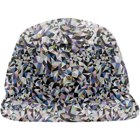 PAOM, Print All Over Me, digital print, design, fashion, style, collaboration, zebrakatz, Baseball Hat, Baseball-Hat, BaseballHat, Fractals, spring summer, unisex, Poly, Accessories