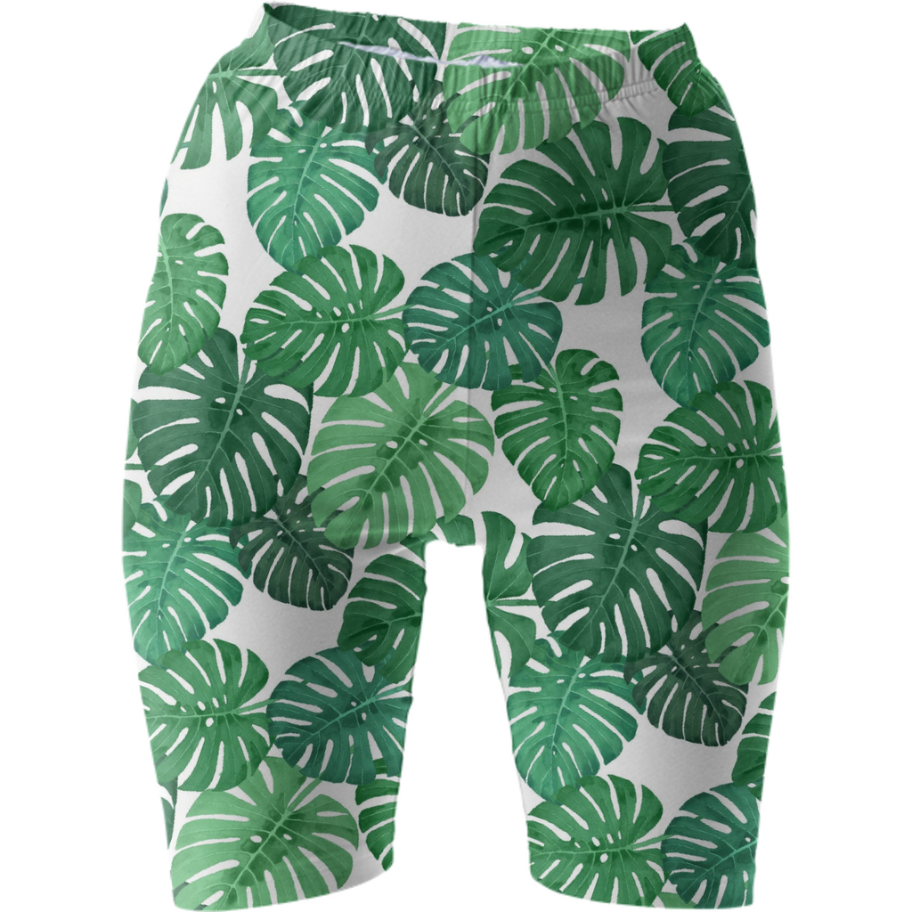 Monstera Jungle Bike Shorts by Frank-Joseph
