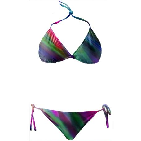 Colorful digital art splashing G400 BIKINI