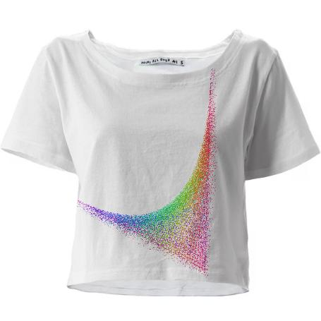 Rainbow Check Crop Tee