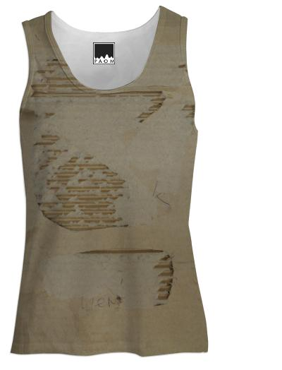 Photographic Cardboard Tank Top