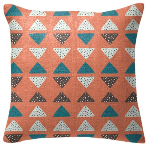 Triangles Dots Pillow