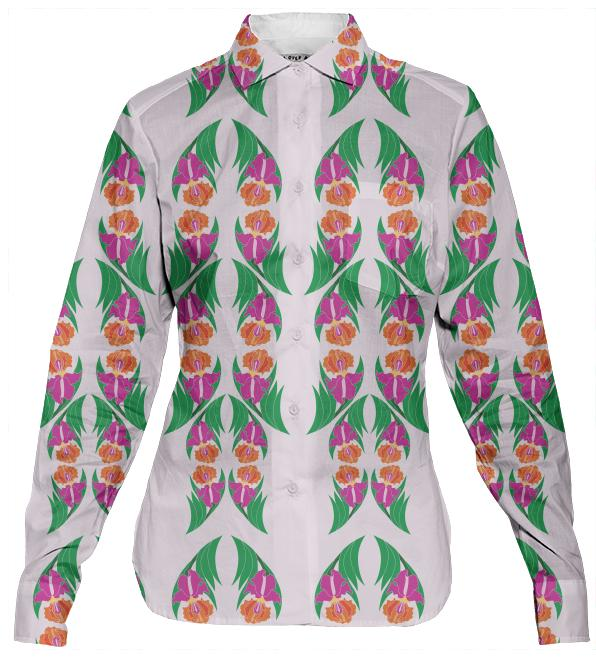 Iris Garden Women s Button Down