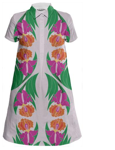 Iris Garden Mini Shirt Dress
