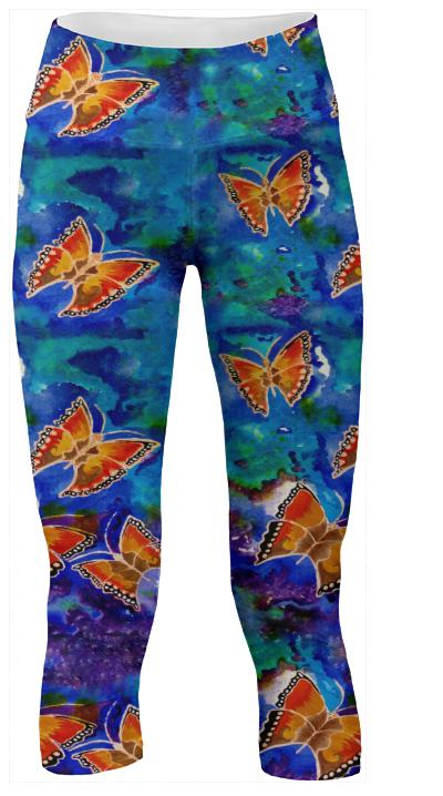 Wax Relief Butterflies Yoga Pants